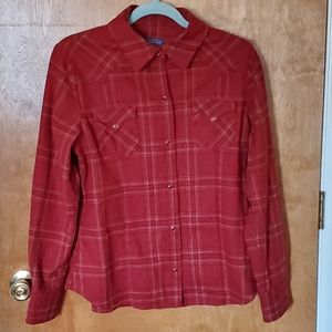 Women's Pendleton snap up fitted shirt